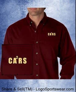 Embroidered CA2Rs logo on Maroon 100% cotton denim Design Zoom