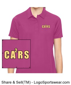 Ladies Pink Polo - CA2RS Logo Design Zoom